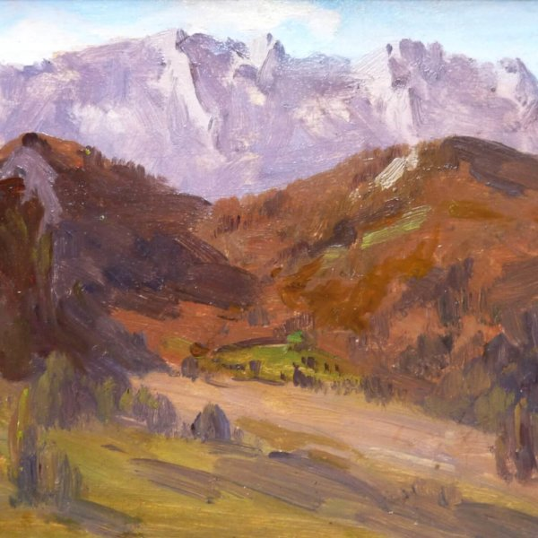 Marie Egner, Gemälde, Berge bei Schladming