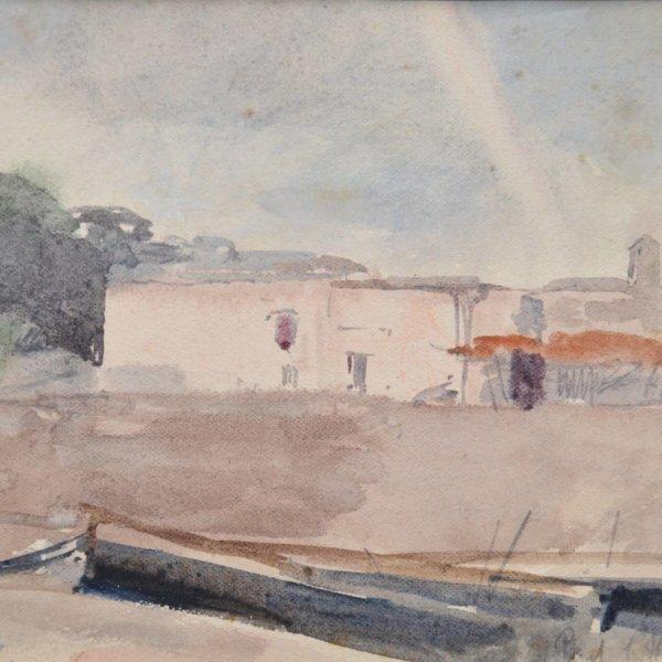 Marie Egner, Aquarell, Im Hafen