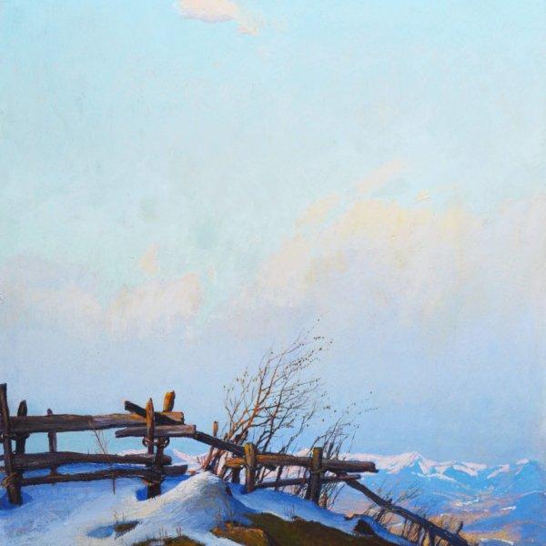 Adolf Helmberger, Gemälde, Vorfrühling in den Bergen