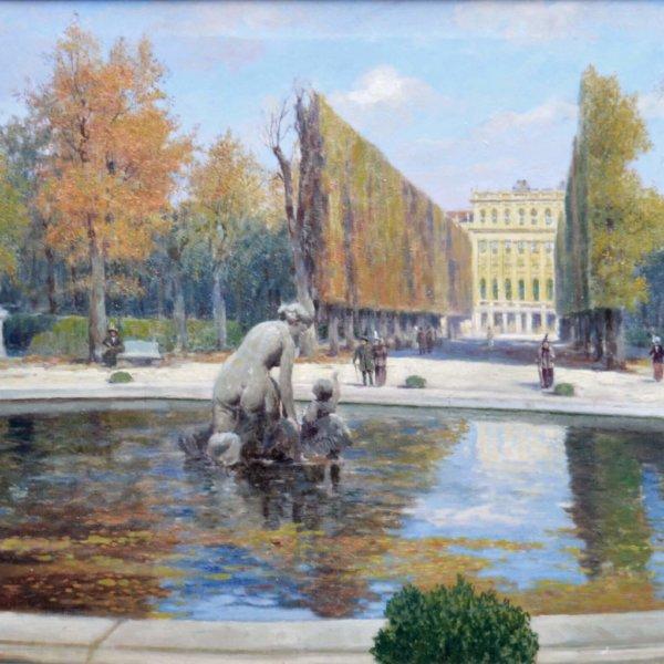 Heinrich Tomec, Gemälde, In Schönbrunn 1