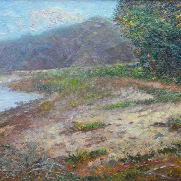 Leontine von Littrow, Gemälde, Küste im Herbst