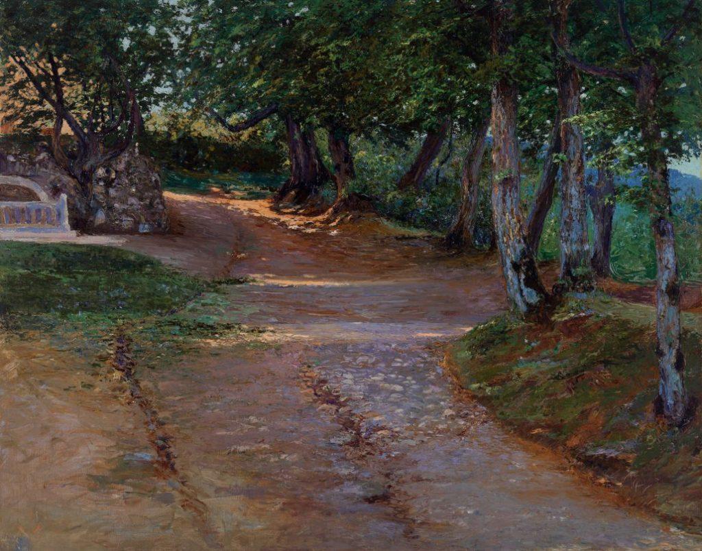 Leontine von Littrow, Gemälde, Lichtung im Park