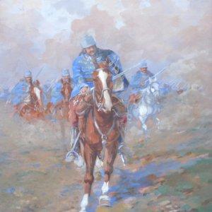 Ludwig Koch, Aquarell, Kavallerie