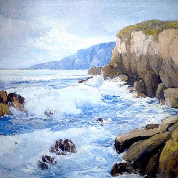 Paul von Spaun, Gemälde, Küste auf Capri