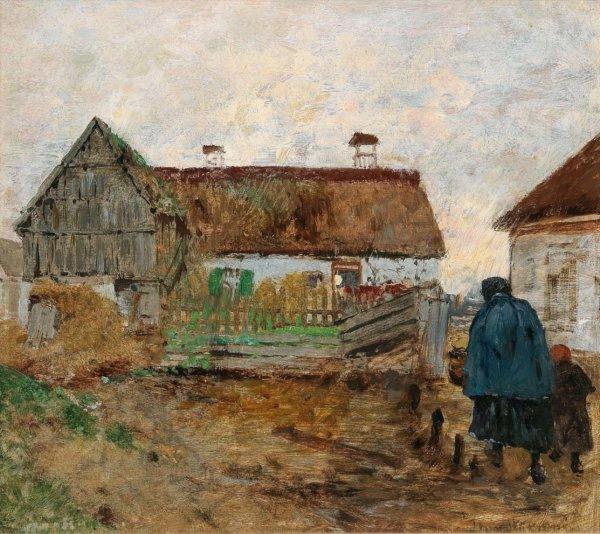 Theodor von Hörmann, Gemälde, Heimkehr nach dem Regen