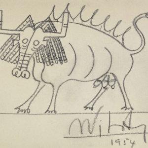 Wilfredo Lam, Zeichnung, Toro