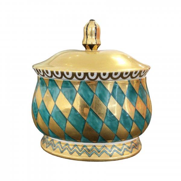Dagobert Peche Keramik, Ovale Deckeldose