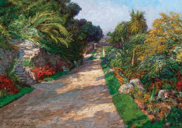 Olga Wisinger-Florian Gemälde, Gartenweg bei Monte Carlo