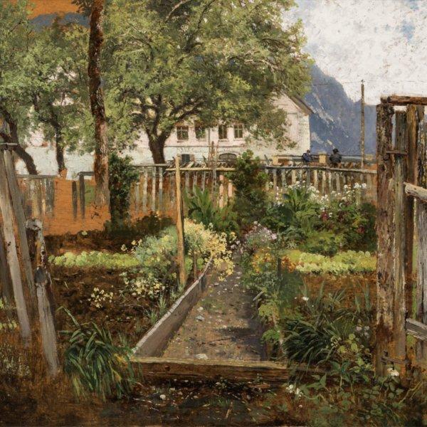 Theodor von Hörmann, Garten bei Lofer