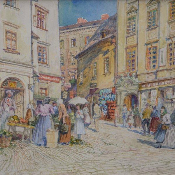 Carl Weiss, Belebter Marktstand