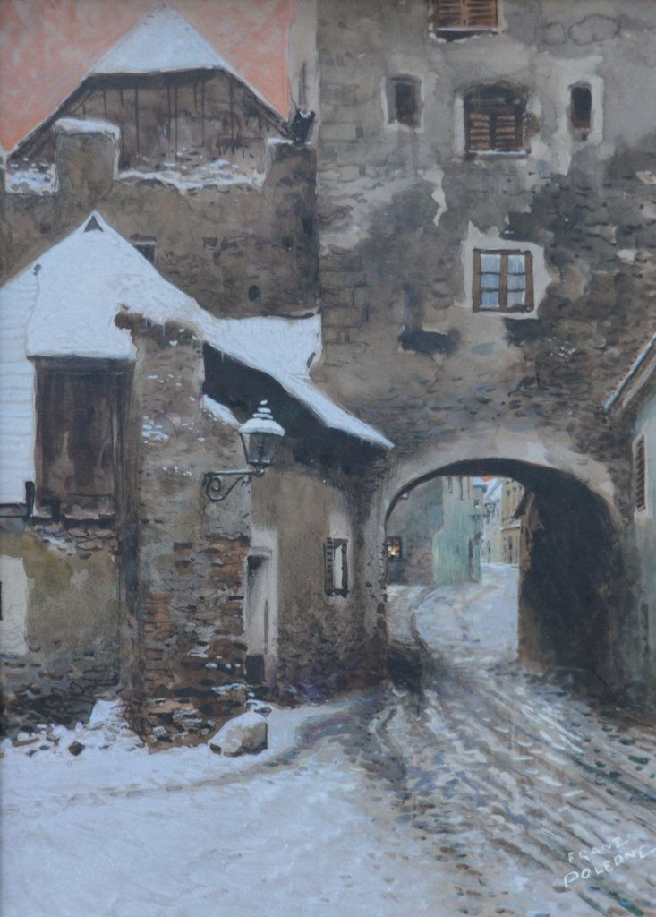 Franz Poledne, Kremser Tor im Winter