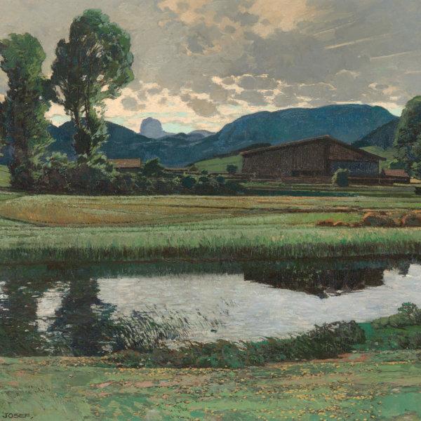 Josef Stoitzner, Spiegelung im Wasser