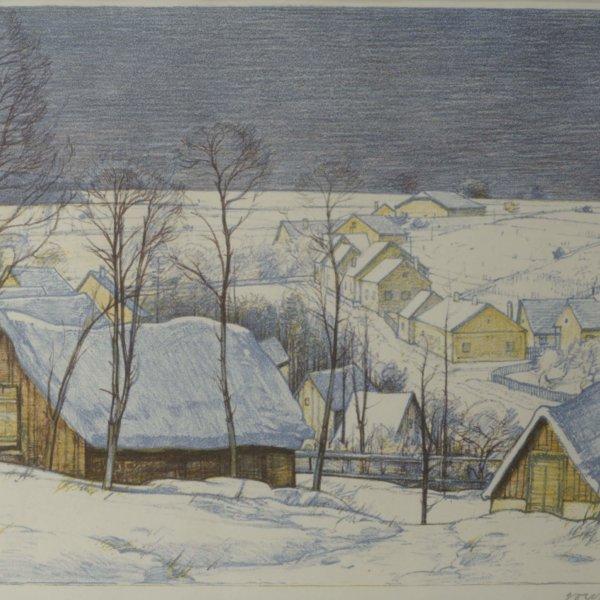 Josef Stoitzner, Verschneites Dorf