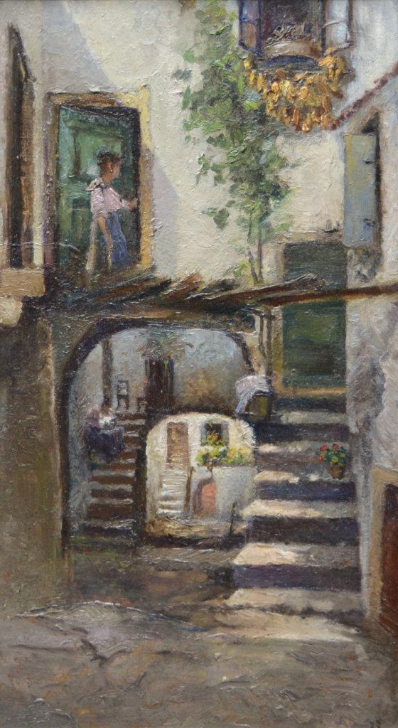 Leontine von Littrow, Innenhof in Abbazia