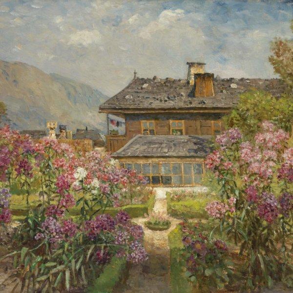 Marie Egner, Blühender Garten in Hofgastein