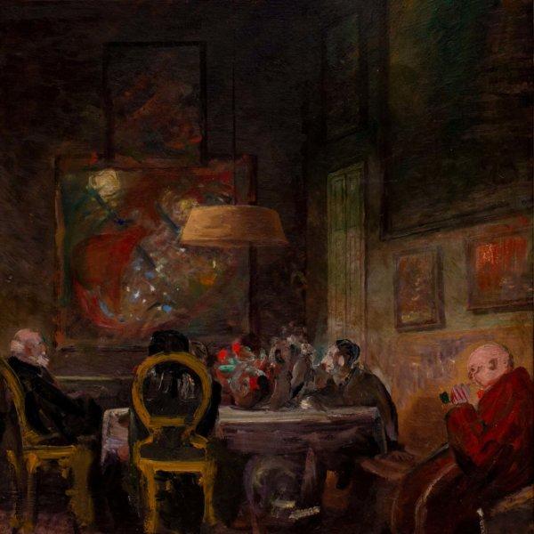 Oskar Laske, Im Atelier des Künstlers