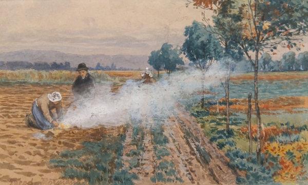 Theodor von Hörmann, Nach der Kartoffelernte