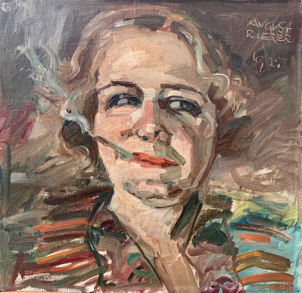August Rieger, Rauchende Dame