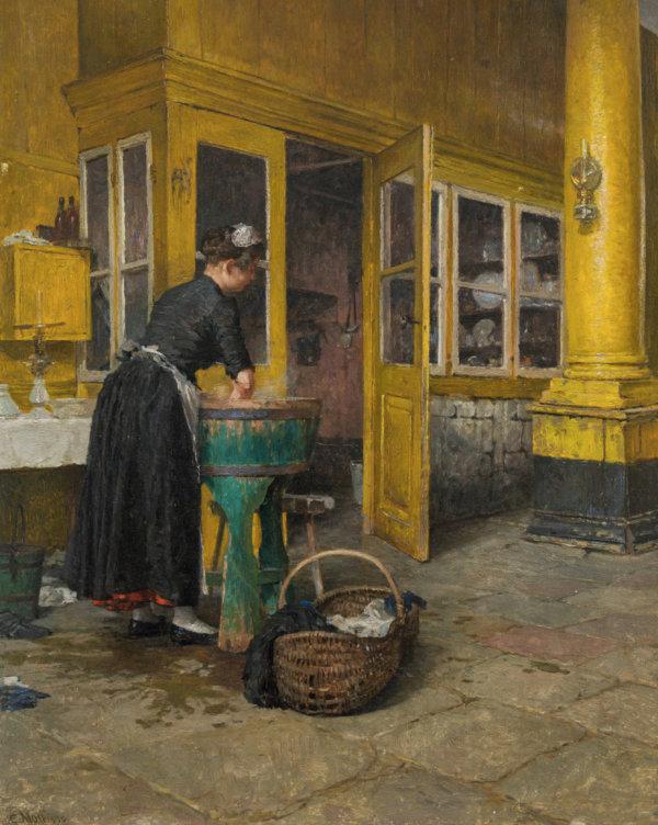 Carl Moll, Waschtag