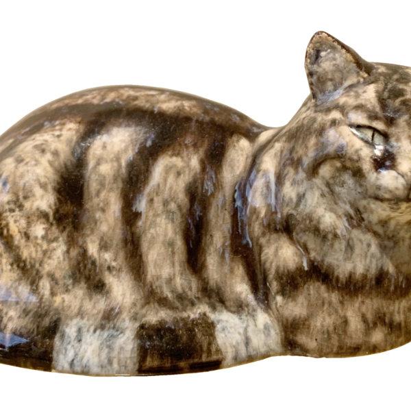 Eduard Klablena, Liegende Katze