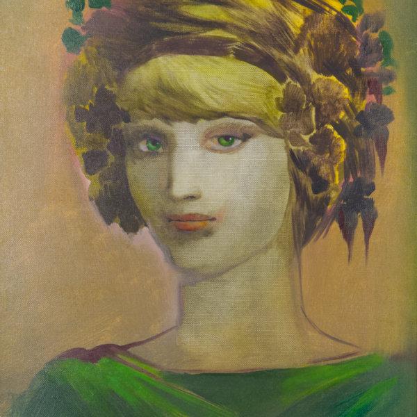Ernst Fuchs, Portrait einer Schönheit