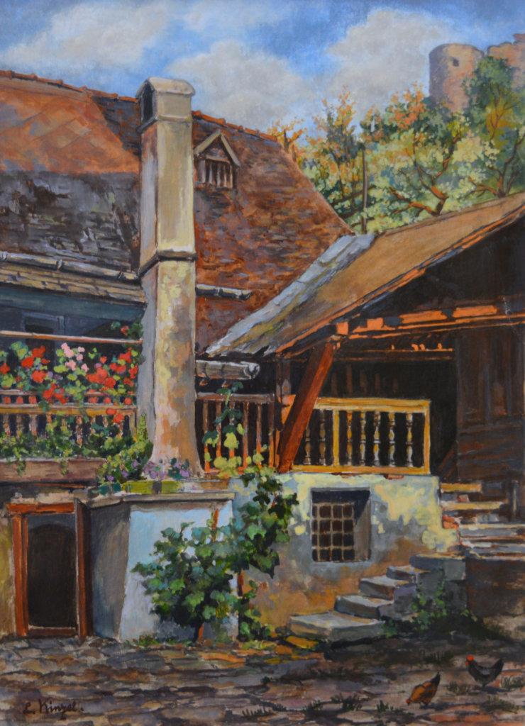 Liesl Kinzel, Bauernhof in der Wachau
