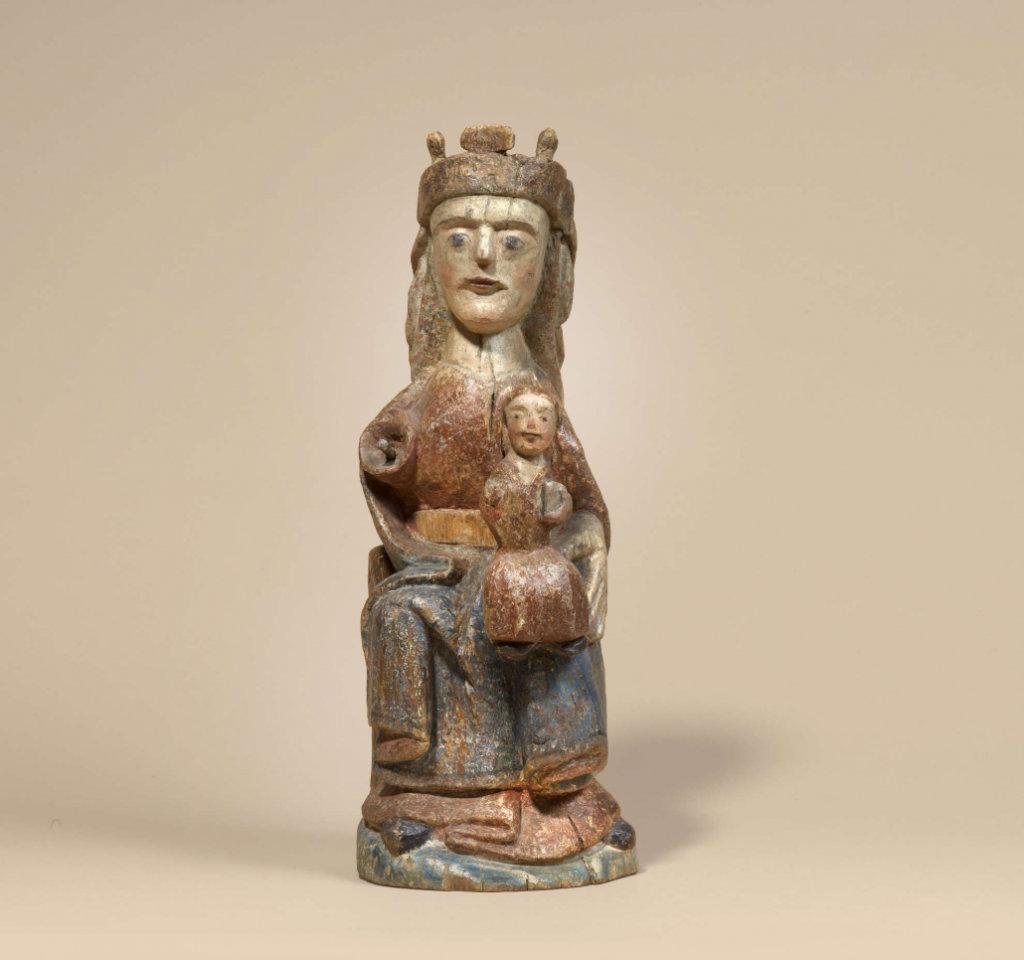 Thronende Madonna, Skulptur um 1250