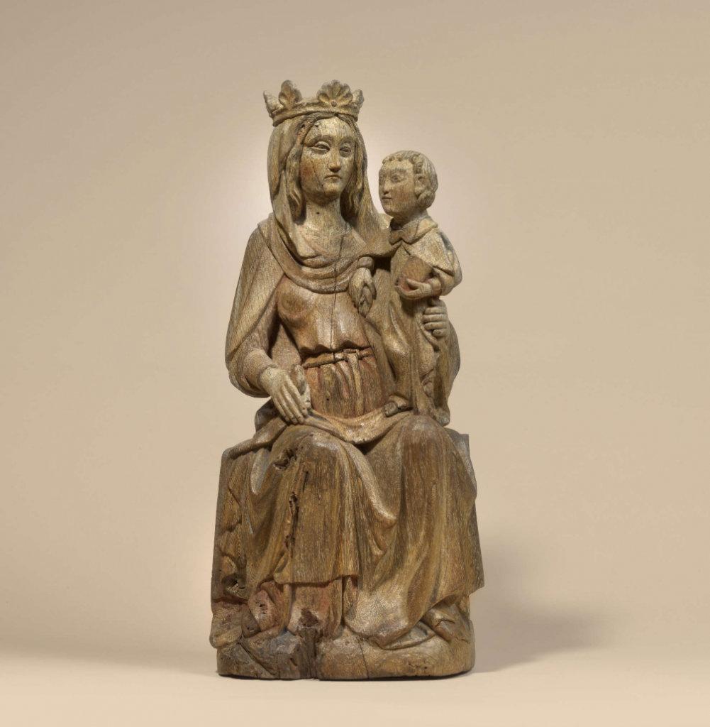 Thronende Madonna, Skulptur um 1360