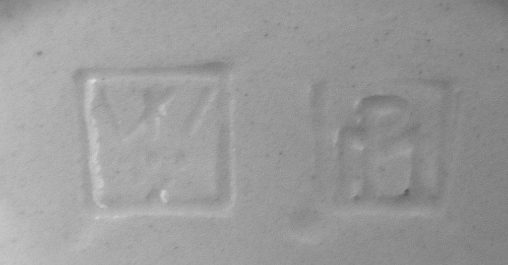 Wiener Keramik Marke gerahmt