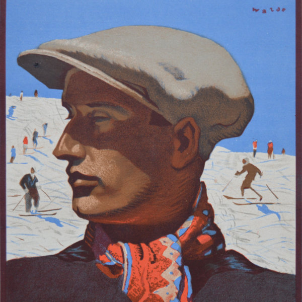 Alfons Walde, Portrait eines Schifahrers