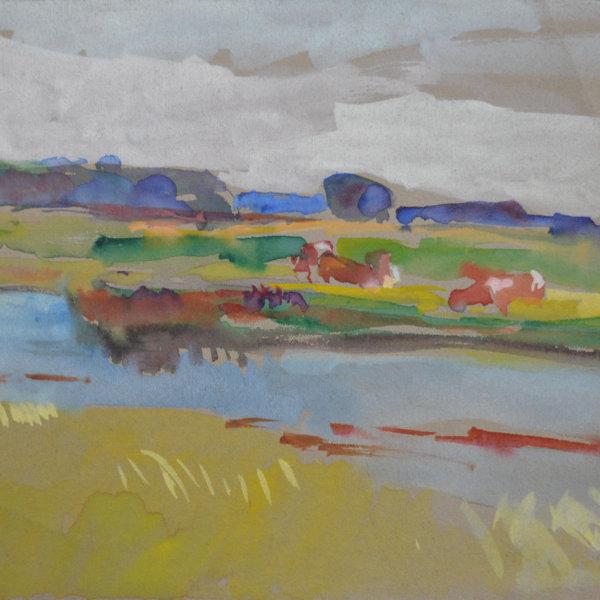 August Rieger, Flusslandschaft