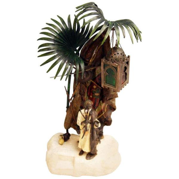 Bergmann Bronze, Tischlampe mit arabischen Krieger