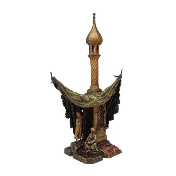 Bergmann Bronze, Arabische Männer im Zelt