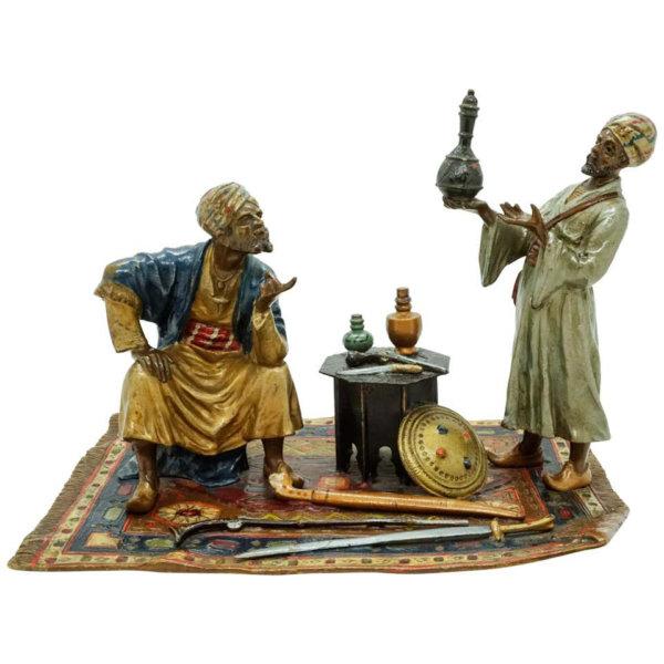 Franz Bergmann Bronze, Orientalische Antiquitätenhändler