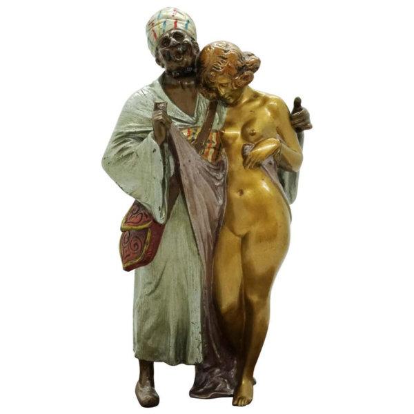 Bruno Zach Bronze, Sklavenhändler mit Mädchen