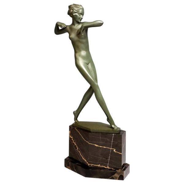 Josef Lorenzl Bronze, Nackte Tänzerin mit lockigen Haar