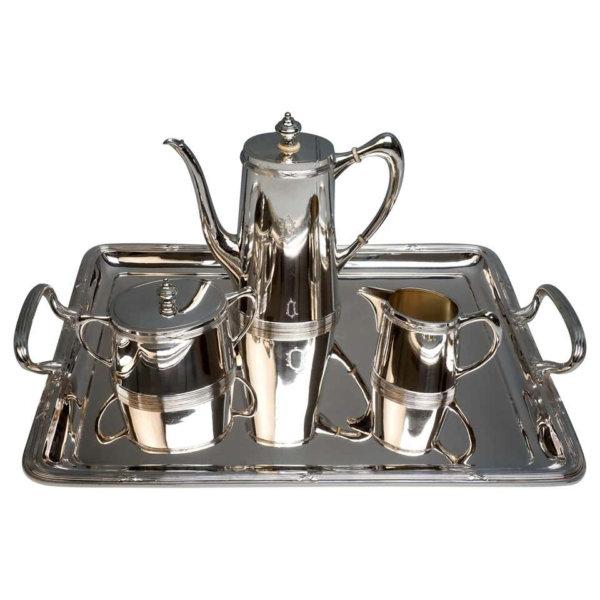 Silberne Jugendstil Kaffeegarnitur