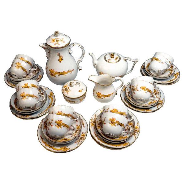 Meissen Porzellan, Kaffe und Tee Service für 12 Personen