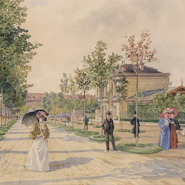 Rudolf Bernt, Spaziergang in Wien
