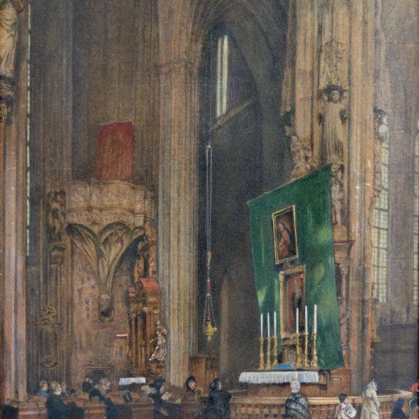 Rudolf von Alt, Im Stephansdom