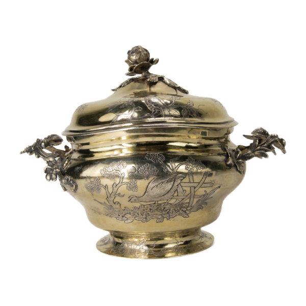 Rokoko Silber Zuckerdose um 1760