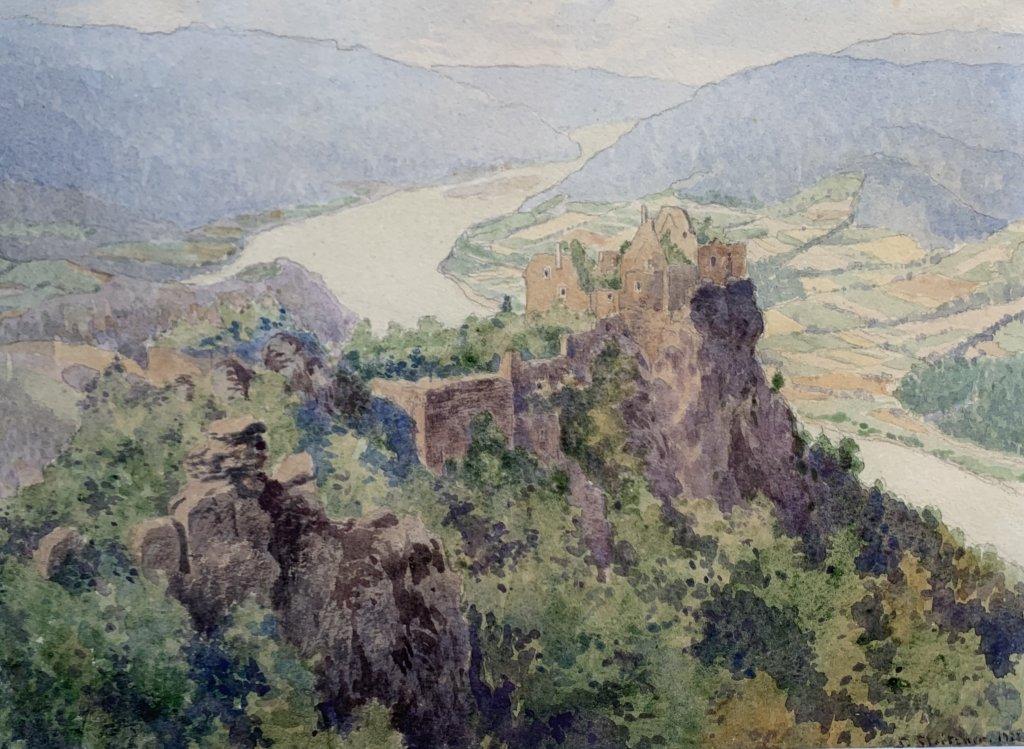 Siegfried Stoitzner, Ruine Aggstein