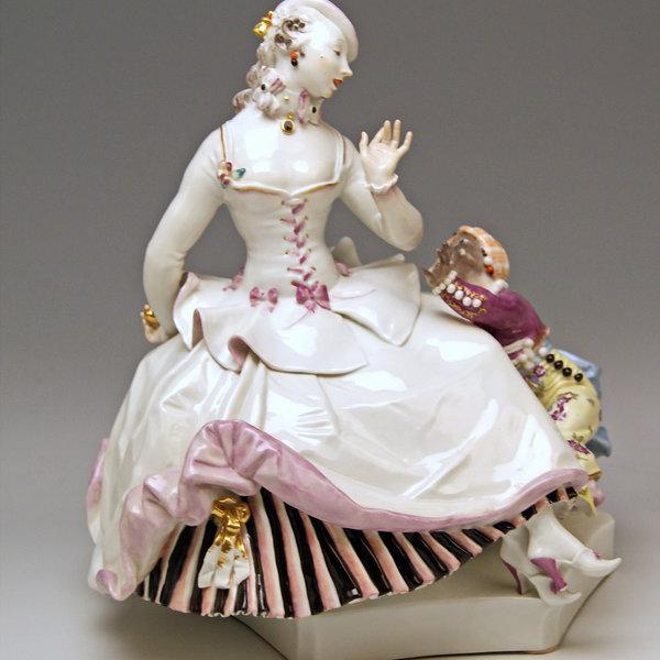 Meissen Porzellan, Dame mit Mohren Kind