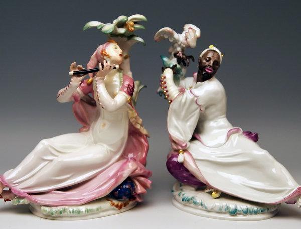 Meissen Porzellan, Orientalische Figuren mit Flöte