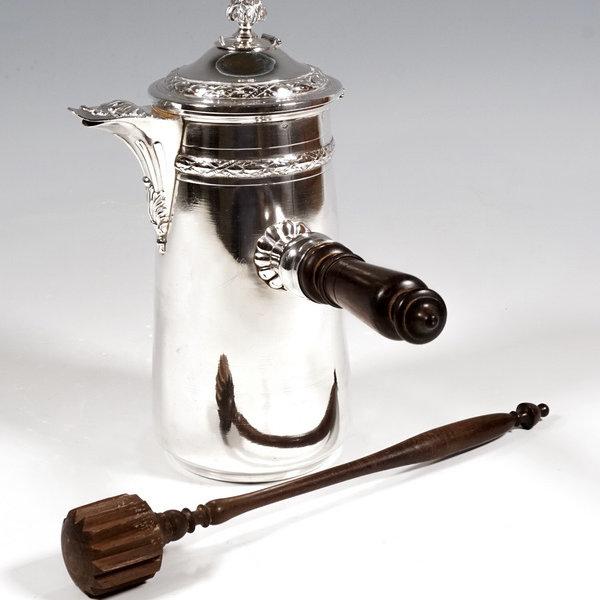 Silber Schokoladekanne - Frankreich um 1900