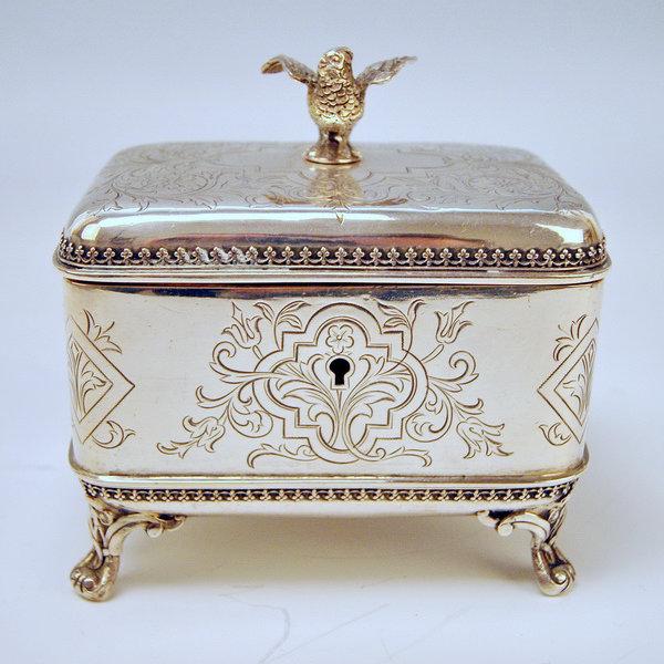 Silber Zuckerdose - Wiener Jugendstil um 1890