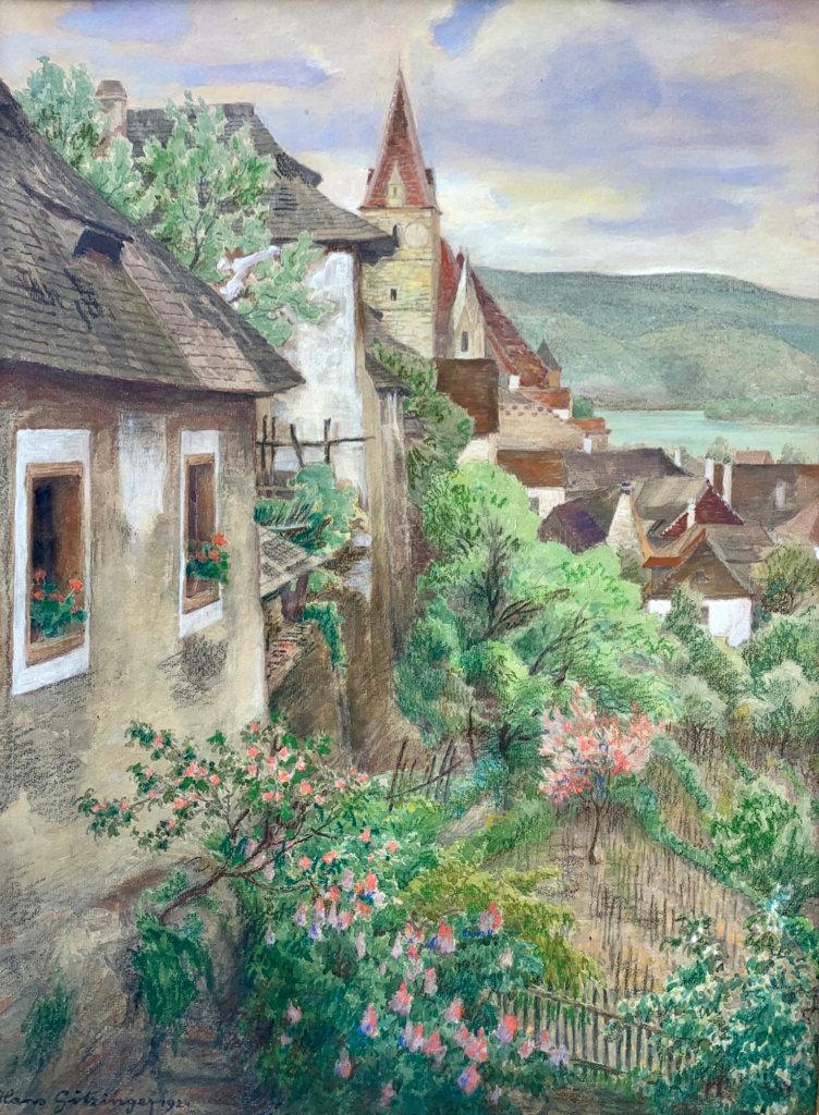 Hans Götzinger, Weissenkirchen - Aquarell