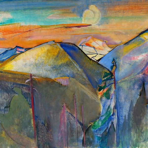 Anton Mahringer, Kesselwaldlandschaft - Gemälde