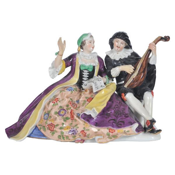 Dresden Porzellan - Musizierendes Paar