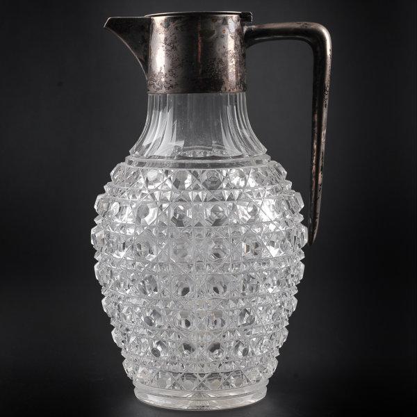 Henkelkrug - Glas mit Metallmontierung